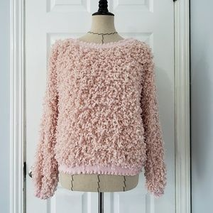 She + Skye Light Pink Boucle Pullover Sweater